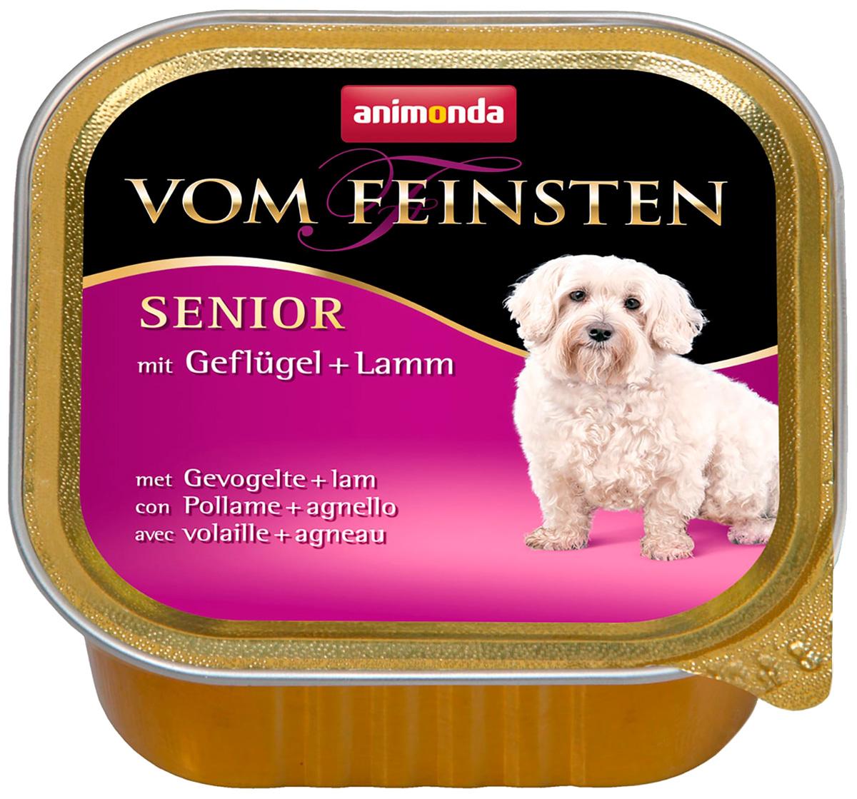 Animonda Vom Feinsten Senior Mit Geflugel & Lamm для пожилых собак с птицей и ягненком  (150 гр х 22 шт)