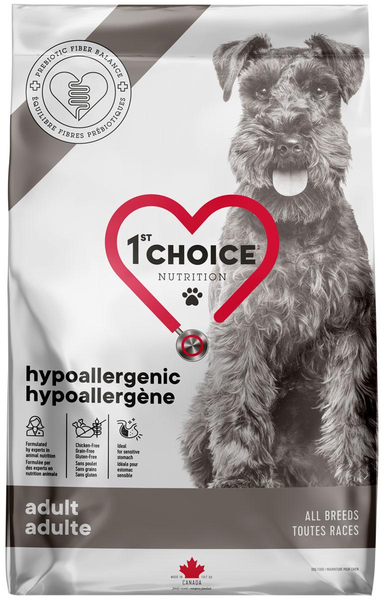 1st Choice Care Dog Adult All Breeds Hypoallergenic беззерновой для взрослых собак всех пород при аллергии с уткой (2 кг)