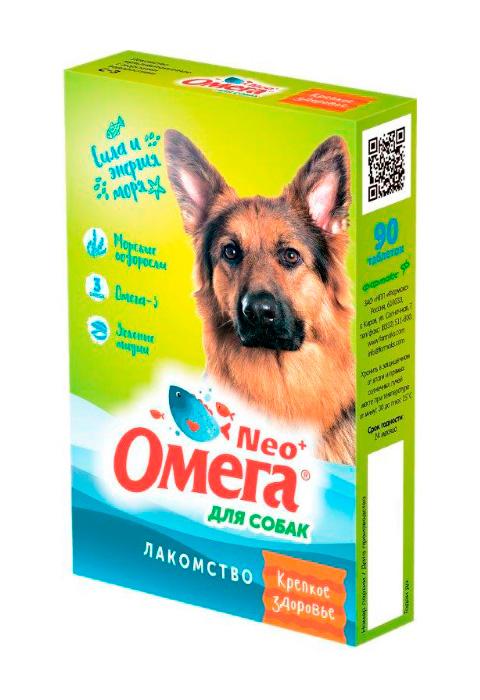 Лакомство омега Neo+ Крепкое здоровье для собак с морскими водорослями Астрафарм (90 шт)
