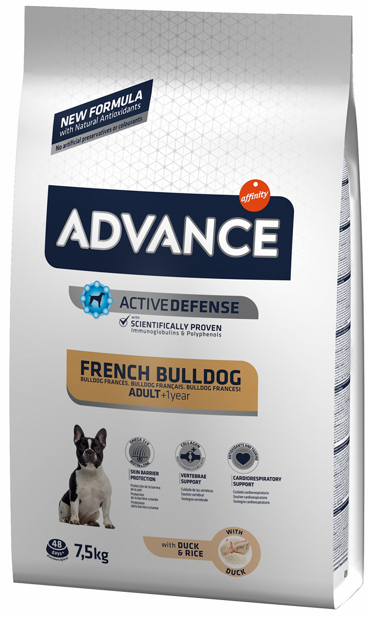 Advance French Bulldog для взрослых собак французский бульдог (7,5 кг)