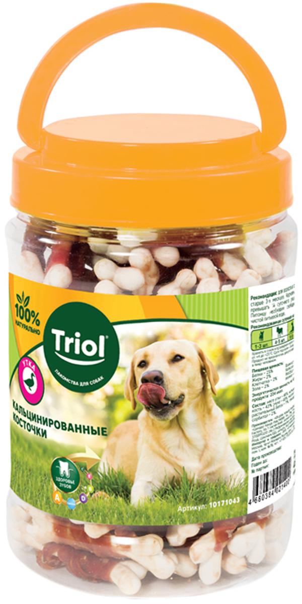 Лакомство Triol для собак косточки кальцинированные с уткой 450 гр (1 шт)