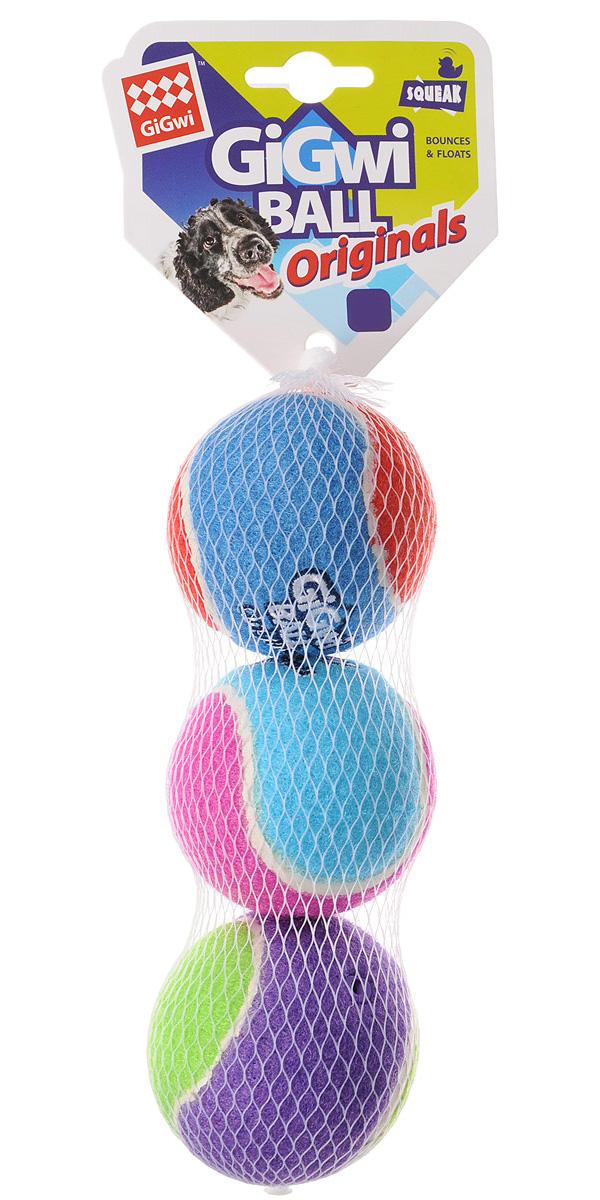 Игрушка для собак GiGwi Ball Originals три мяча с пищалкой 8 см (1 шт)