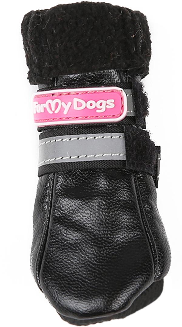 For My Dogs сапоги для собак кожаные на флисе зимние черные Fmd618-2017 Bl (0) фото