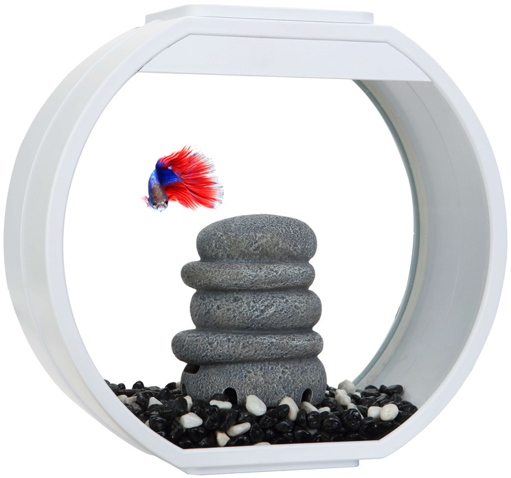 Аквариум Aa Aquarium Deco O Mini Upg дисковидный 10 литров белый (1 шт)
