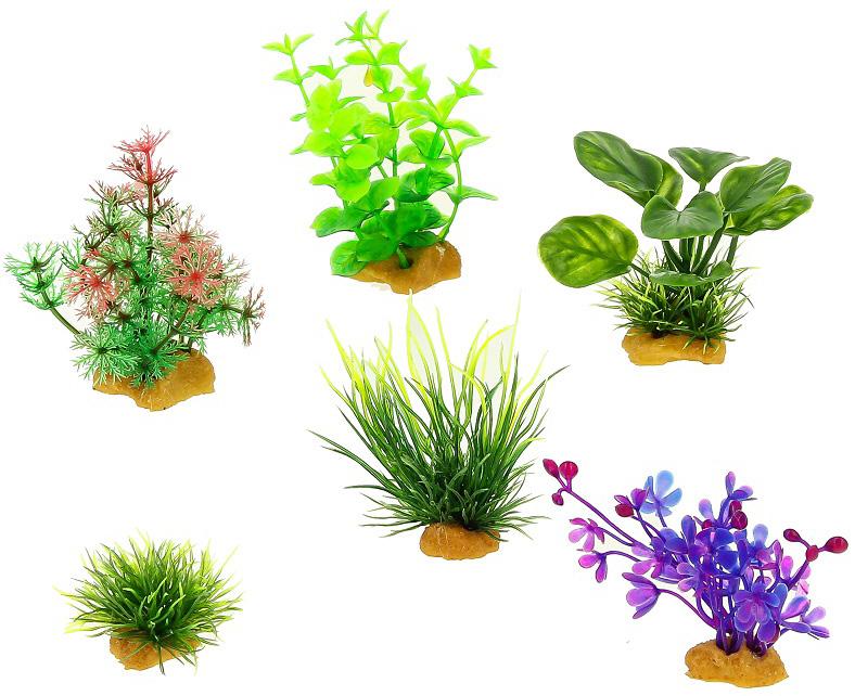 Набор пластиковых растений для аквариума Prime Pr-ys-70404 уп. 6 шт (1 уп) 0 pr на 100