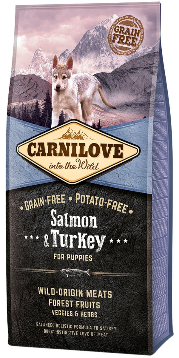Brit Carnilove Puppy Salmon & Turkey беззерновой для щенков всех пород с лососем и индейкой (12 кг)
