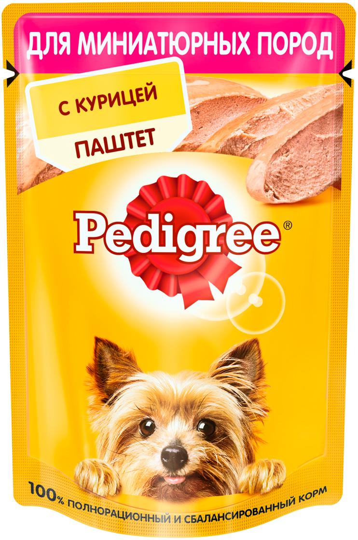 Фото - Pedigree для взрослых собак маленьких пород паштет с курицей (80 гр) pedigree pedigree сухой корм с курицей для щенков всех пород с 2 месяцев