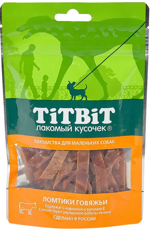 Лакомство Tit Bit лакомый кусочек для собак маленьких пород ломтики говяжьи (50 гр)