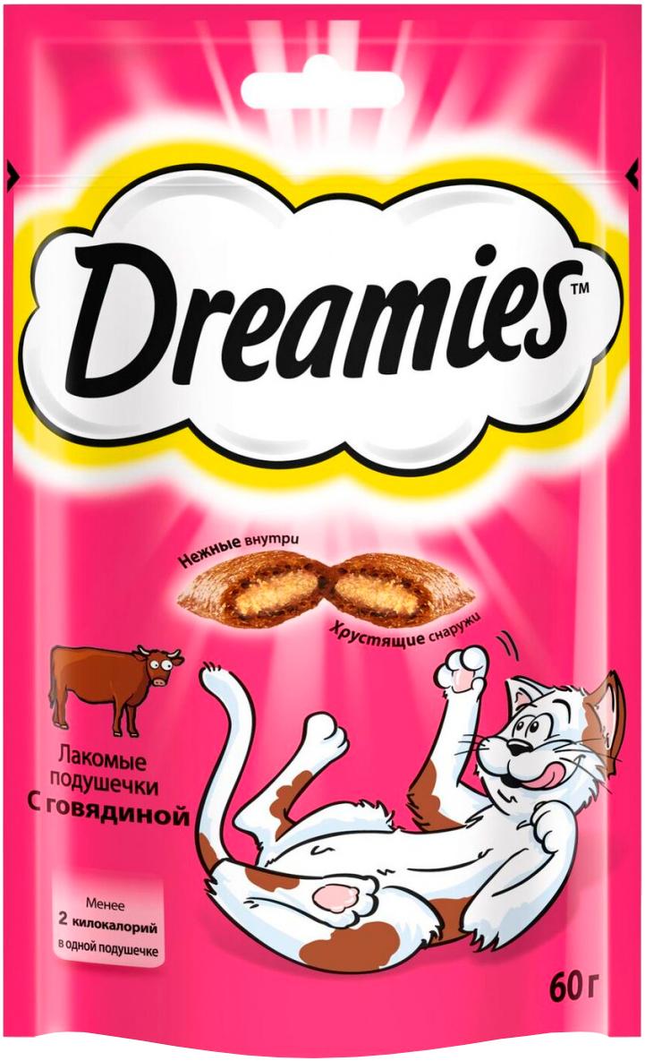 Лакомство Dreamies для кошек подушечки с говядиной (60 гр).