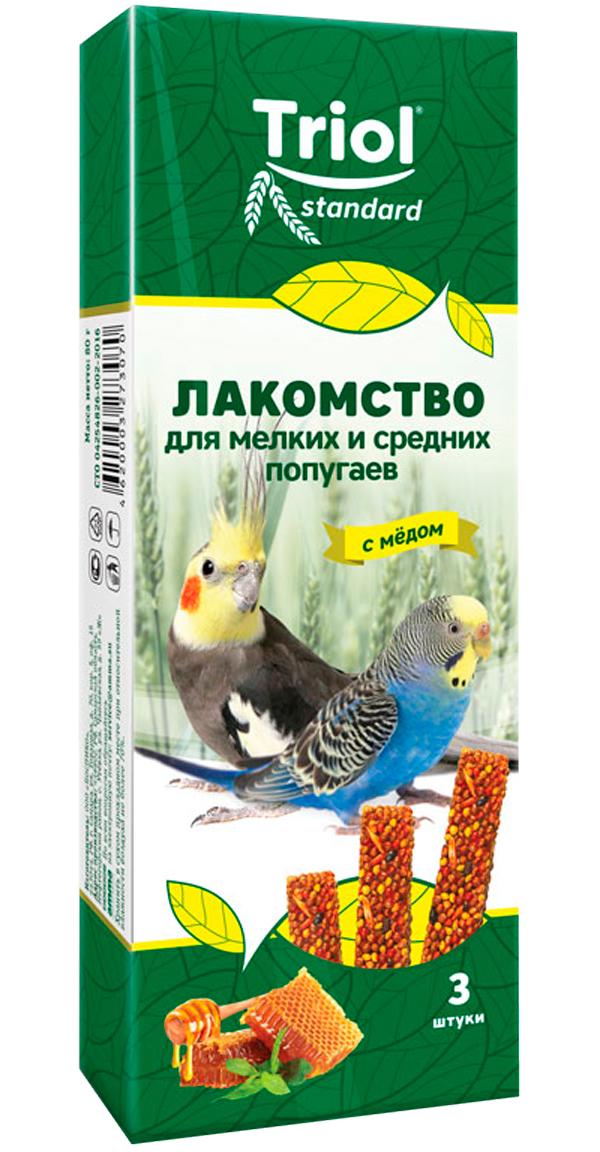 Triol Standard лакомство для мелких и средних попугаев с медом (3 шт)