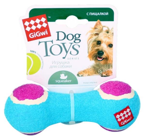 Игрушка для собак GiGwi Гантеля с пищалкой малая 13 см (1 шт)