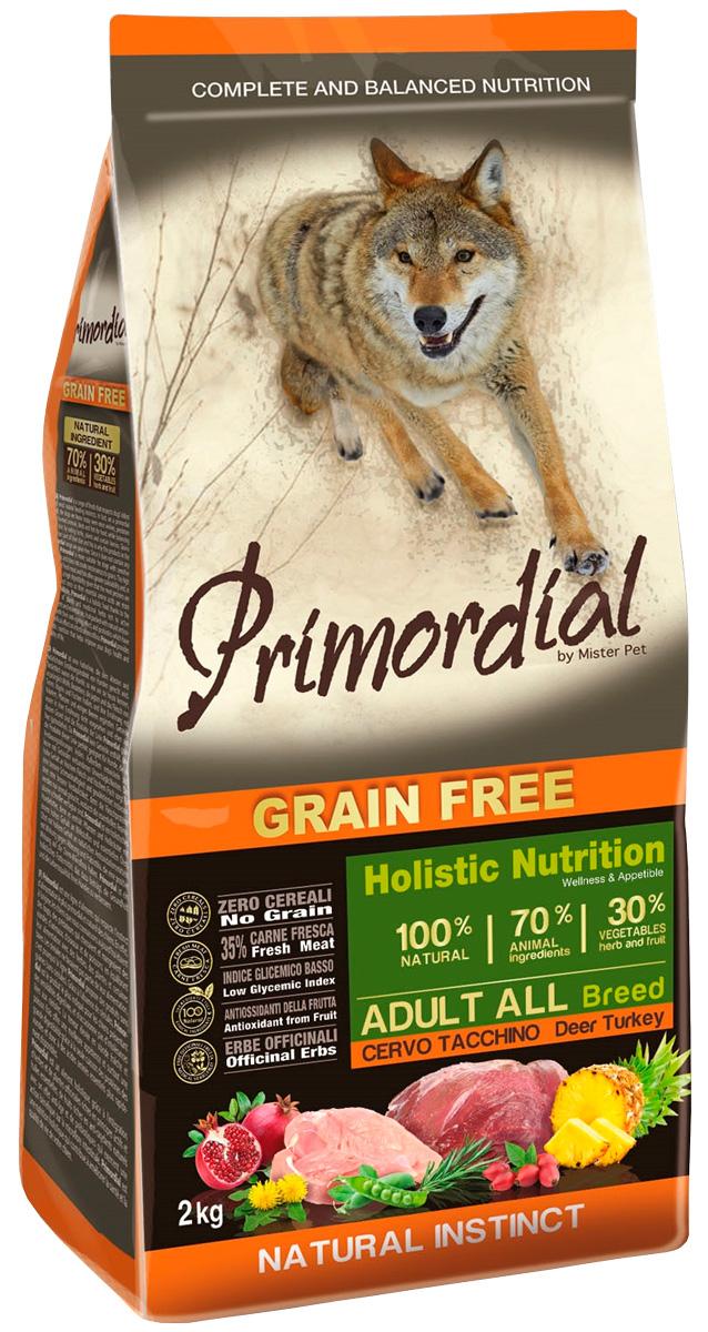 Primordial Adult All Breed беззерновой для взрослых собак всех пород с олениной и индейкой (12 + 12 кг) фото