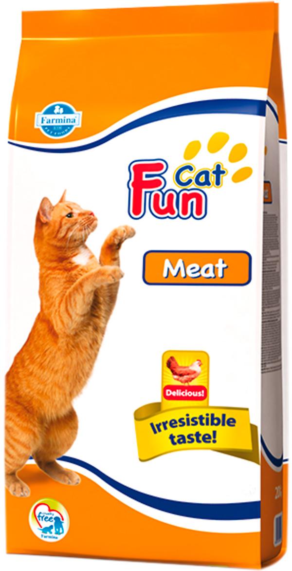 Fun Cat Meat для взрослых кошек с мясом (20 кг)