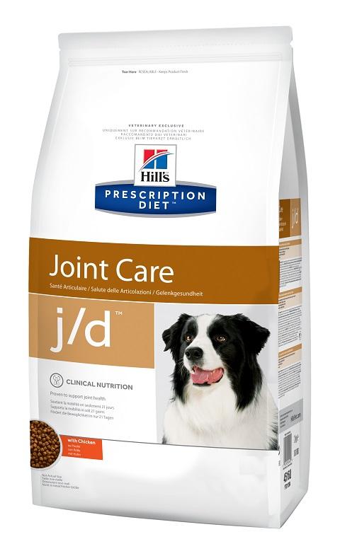 Hill's Prescription Diet J/d для взрослых собак при заболеваниях суставов (12 кг)
