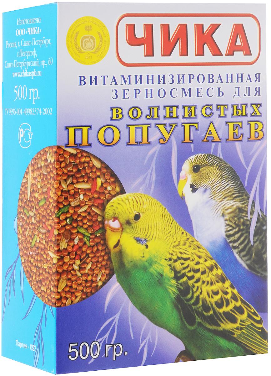 чика корм для волнистых попугаев витаминизированный (500 гр).