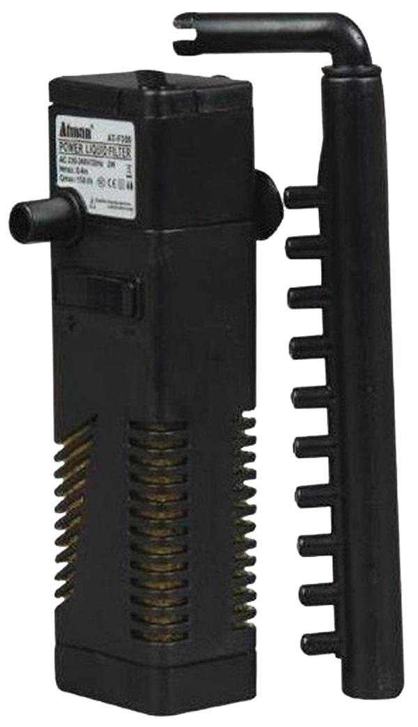 Внутренний фильтр Atman At-f300 2 Вт 150 л/ч для аквариумов объемом до 30 л (1 шт) внутренний фильтр xilong xl f280 30 вт 1800 л ч для аквариумов объемом до 400 л 1 шт