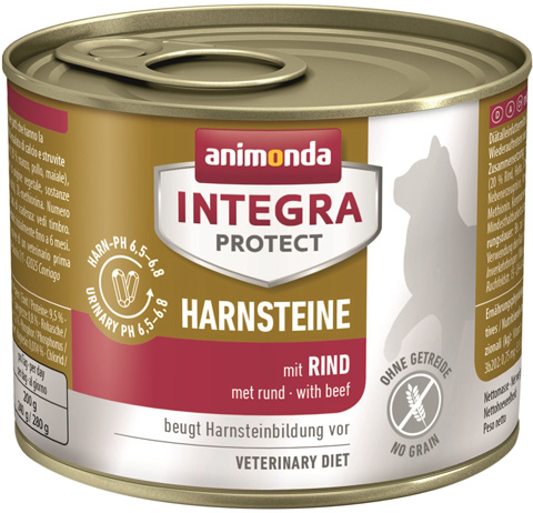 Картинка - Animonda Integra Protect Cat Harnsteine Urinary для взрослых кошек при мочекаменной болезни с говядиной 200 гр (200 гр)