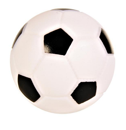 Trixie игрушка для собак «Мяч футбольный» (10 см)