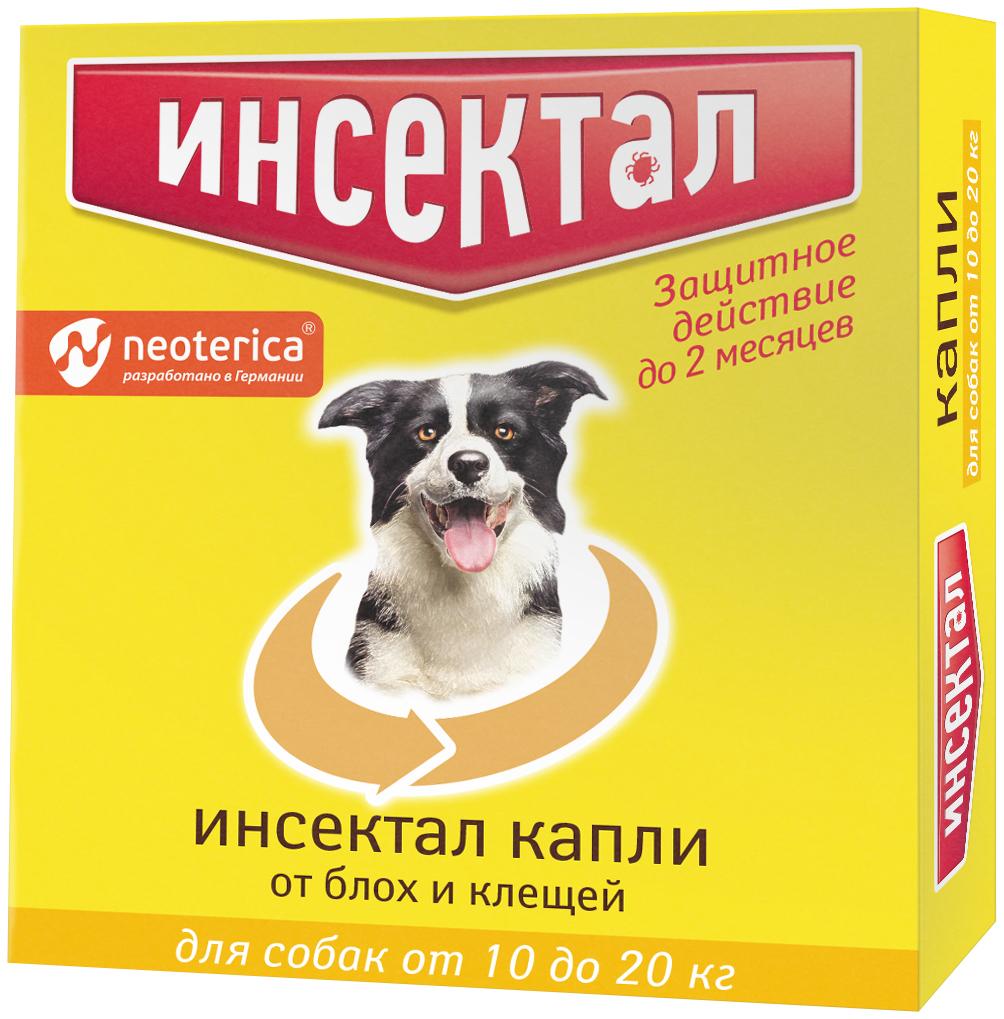 Инсектал капли для взрослых собак весом от 10 до 20 кг против клещей и блох (1 пипетка по 1,5 мл) (1 пипетка) фото