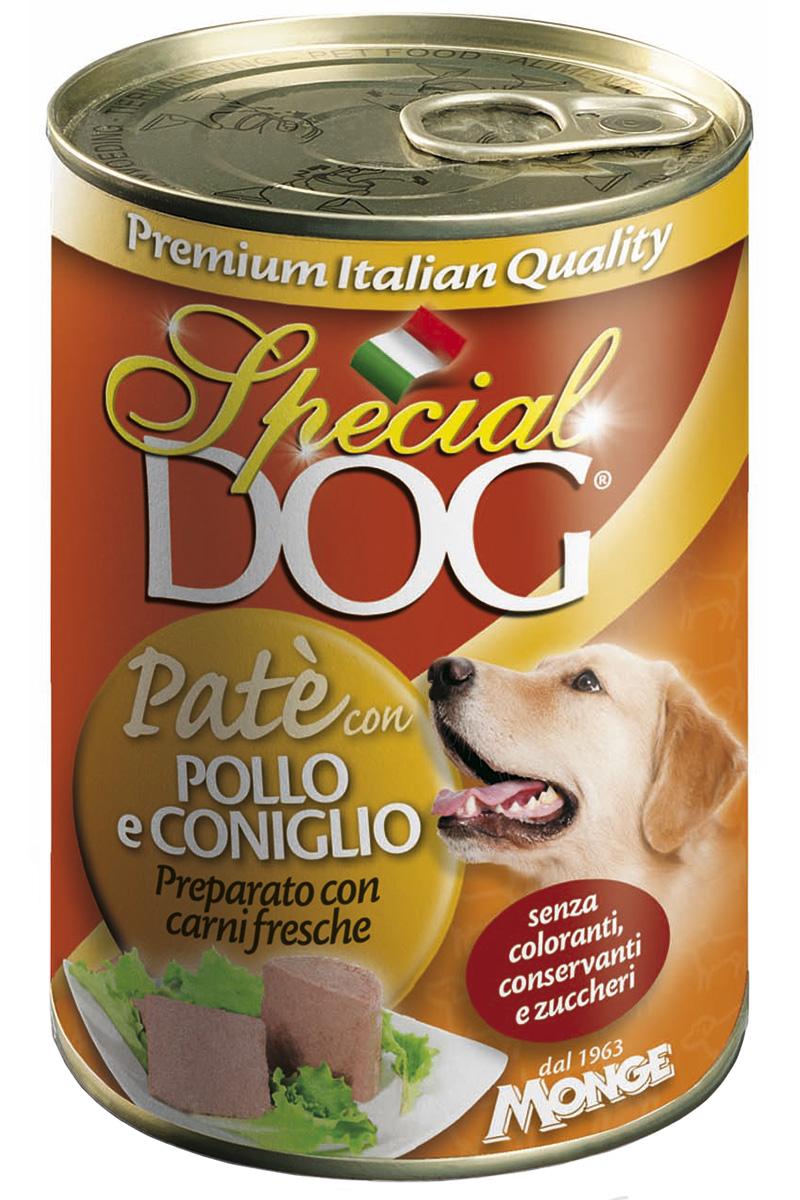 Special Dog для взрослых собак паштет с курицей и кроликом  (400 гр х 24 шт)