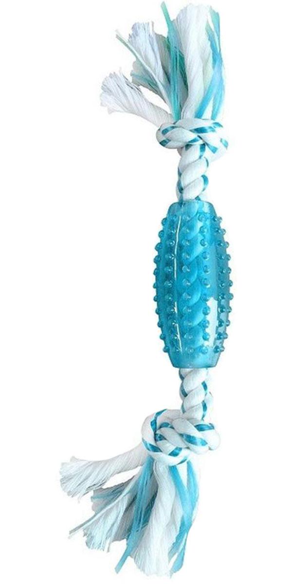 Игрушка для собак Aromadog CanineClean канат с мячом для регби и ароматом мяты 25 см (1 шт)