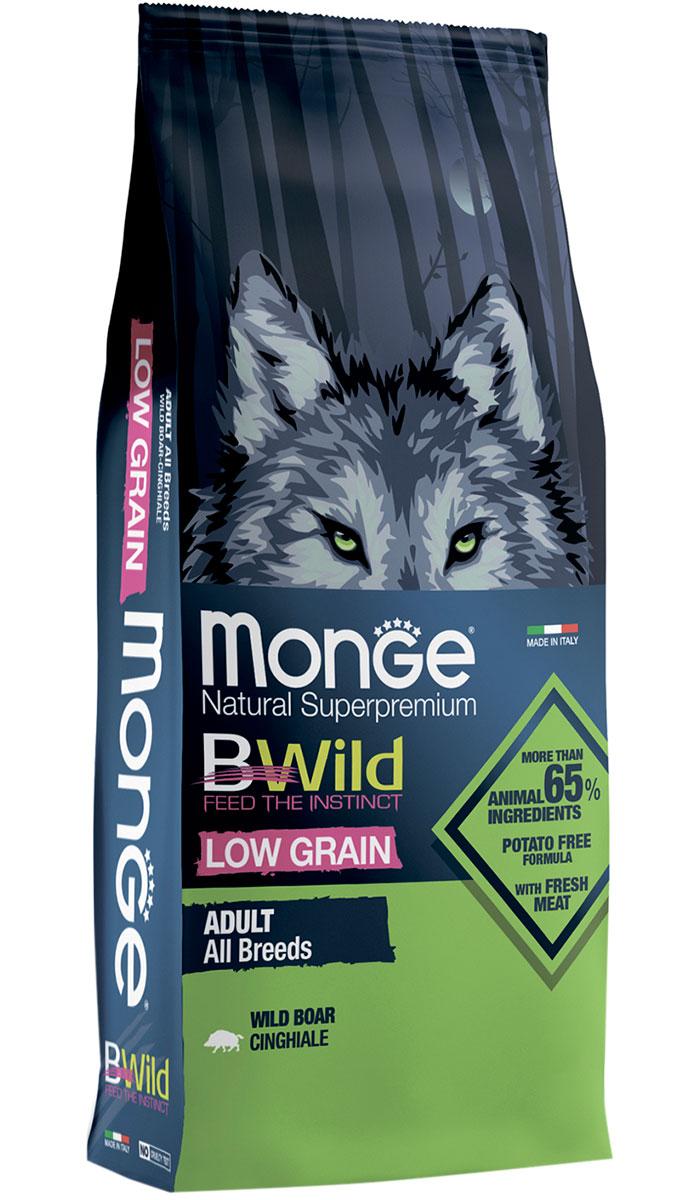 Monge Bwild Low Grain Dog Adult All Breeds низкозерновой для взрослых собак всех пород с мясом дикого кабана (12 + 12 кг)