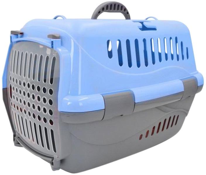 Переноска для животных Homepet голубая 48 х 32 х 32 см (1 шт) переноска для животных triol premium large 80 1 х 56 2 х 59 см 1 шт