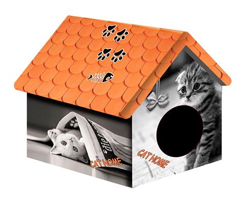 Дом для животных PerseiLine Дизайн Кошка с газетой 33 х 33 х 40 см (1 шт) дом для животных perseiline дизайн бамбук 33 х 33 х 40 см 1 шт
