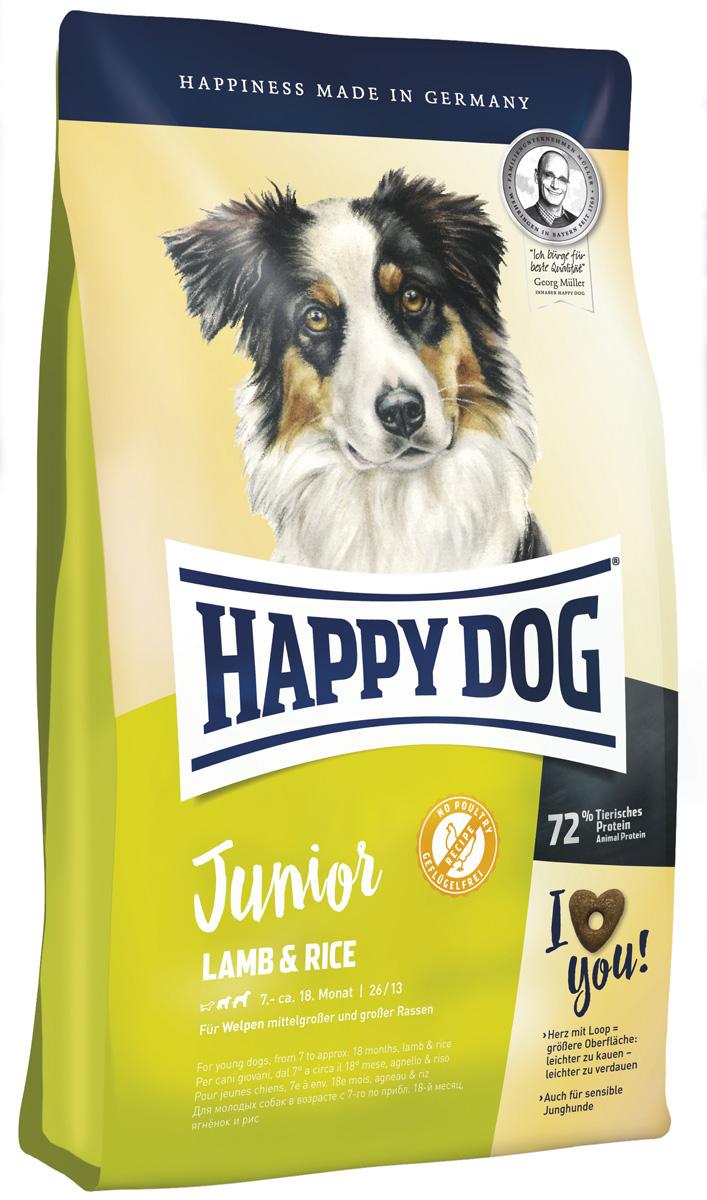 Happy Dog Supreme Junior Lamb & Rice для юниоров средних и крупных пород с ягненком и рисом (4 кг)