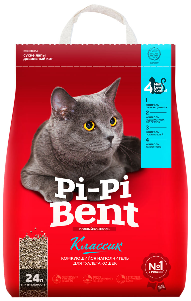 Pi-pi Bent классик – Пи-Пи-Бент наполнитель комкующийся для туалета кошек (10 кг)