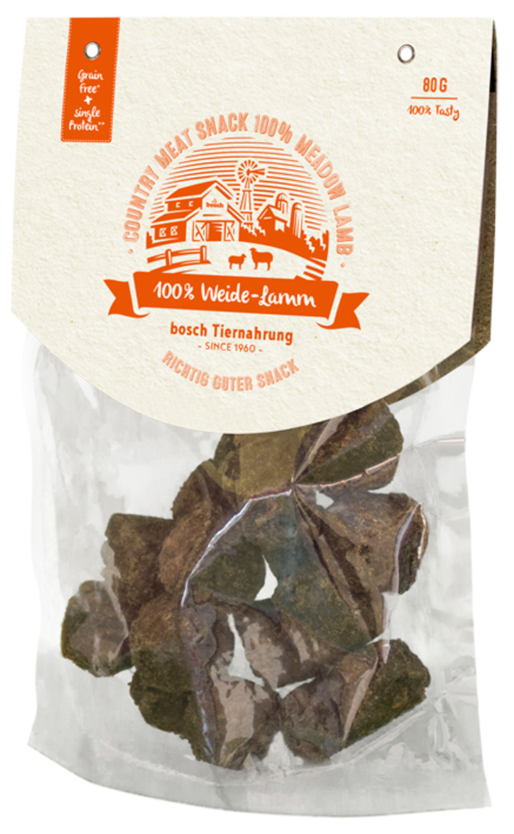 Лакомство Bosch Country Meat Snack для собак с ягненком 80 гр (1 шт)