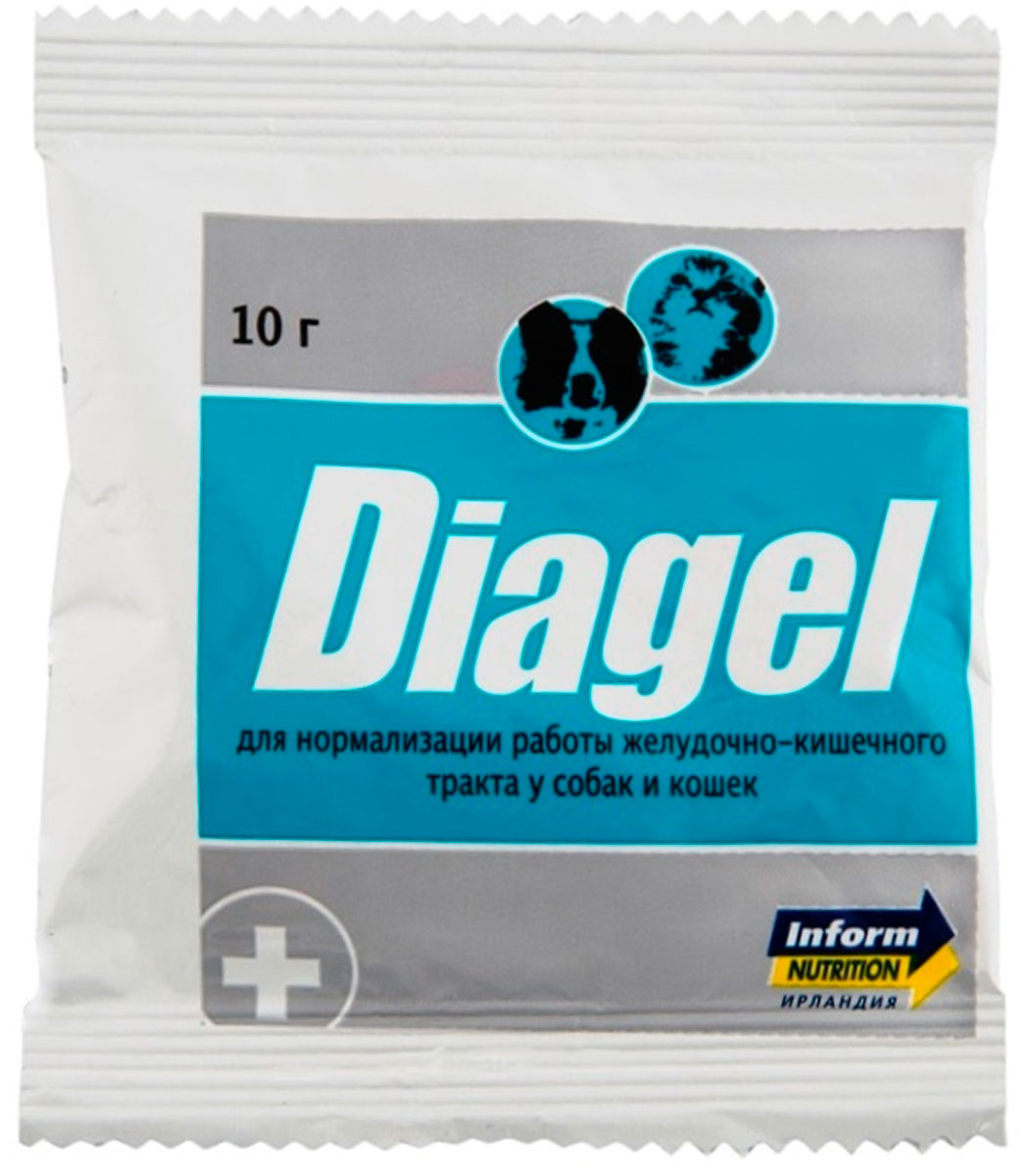 Diagel Диагель препарат для собак и кошек для нормализации работы желудочно-кишечного тракта 10 гр  (1 шт)