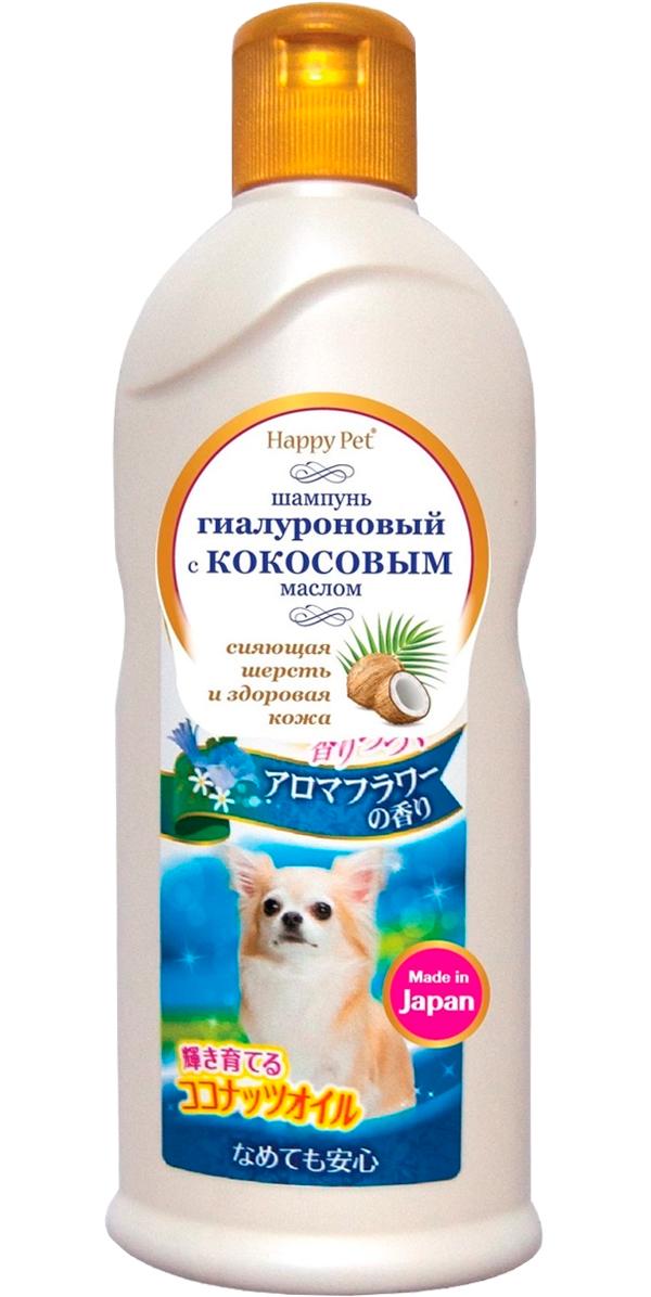 Шампунь для собак Premium Pet Japan с кокосовым маслом и гиалуроном для сияющей шерсти с букетным ароматом 350 мл (1 шт)
