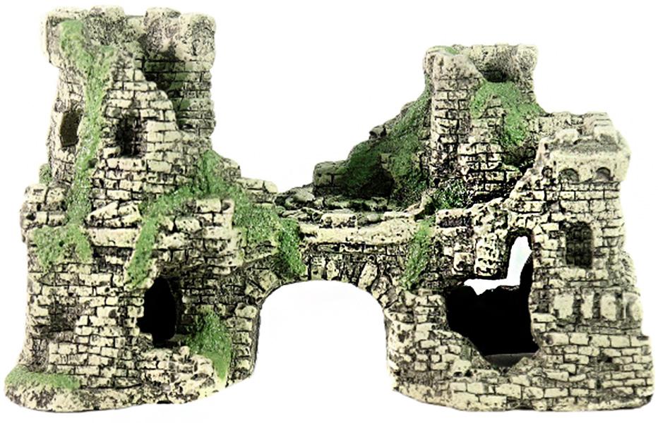 Грот для аквариума Крепость № 201 пластиковый, 22 х 11 х 14 см, Deksi (1 шт)