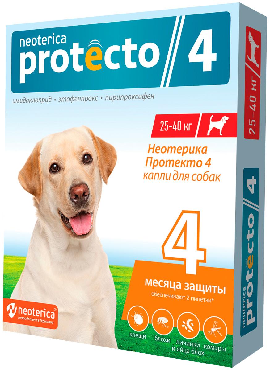 Protecto капли для собак весом от 25 до 40 кг против клещей и блох (уп. 2 шт) (1 уп)