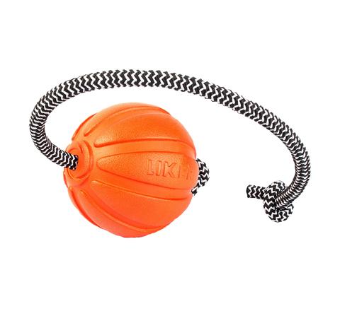 Мяч Лайкер Корд на шнуре для собак 9 см Collar (1 шт)