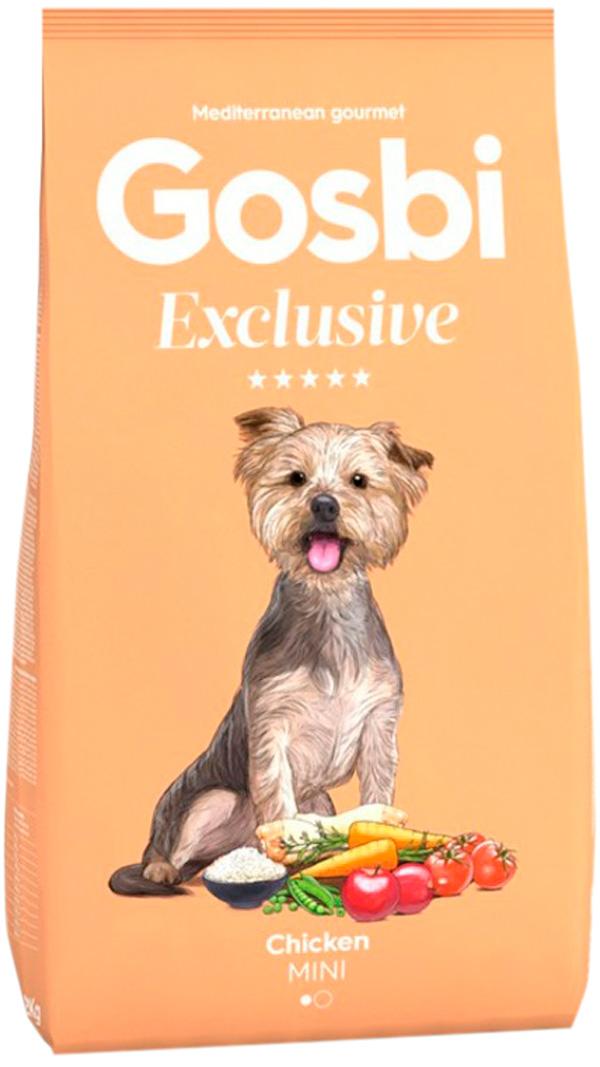 Фото - Gosbi Exclusive Adult Mini Chiken для взрослых собак маленьких пород с курицей (2 кг) gosbi лакомство gosbits для взрослых собак с курицей 300 г
