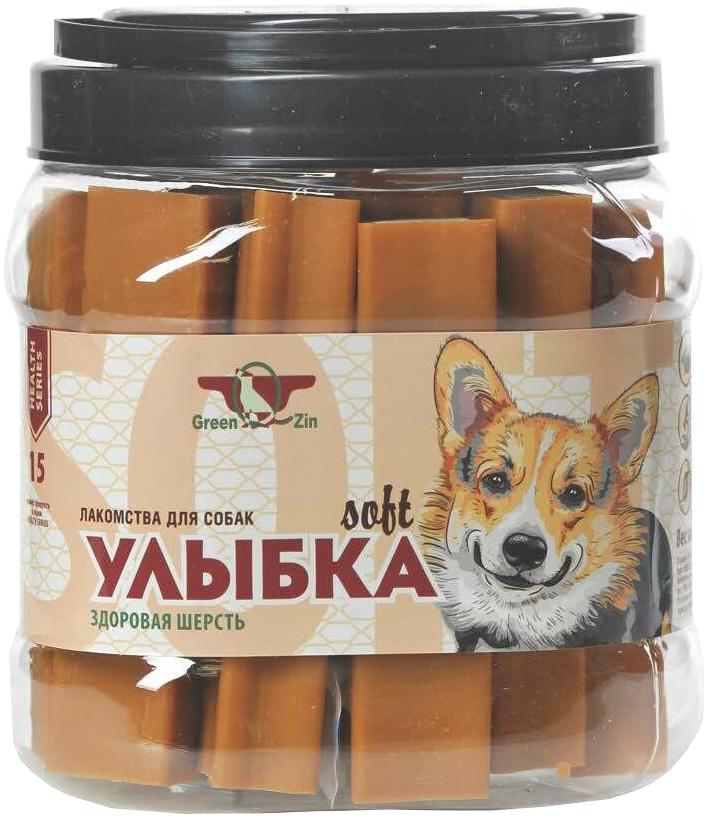 Лакомство Green Qzin Улыбка Soft №15 для собак всех пород палочки мягкие жевательные для зубов, кожи и шерсти 1130 гр 18 шт (1 шт)