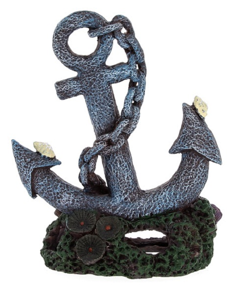 Декорация для аквариума Якорь пластиковая, 4,7 х 4 х 6,5 см, Prime (1 шт) фото