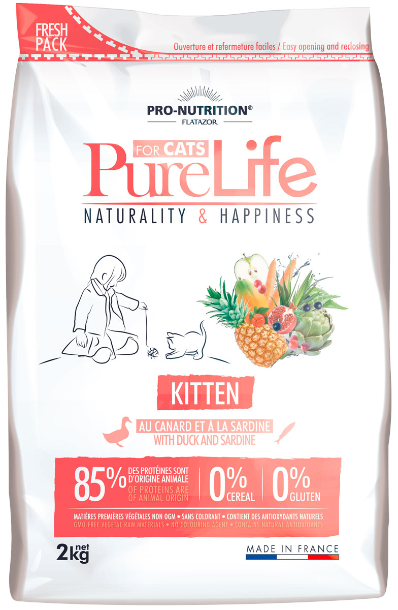 Flatazor Pure Life Kitten для котят (2 + 0,4 кг)