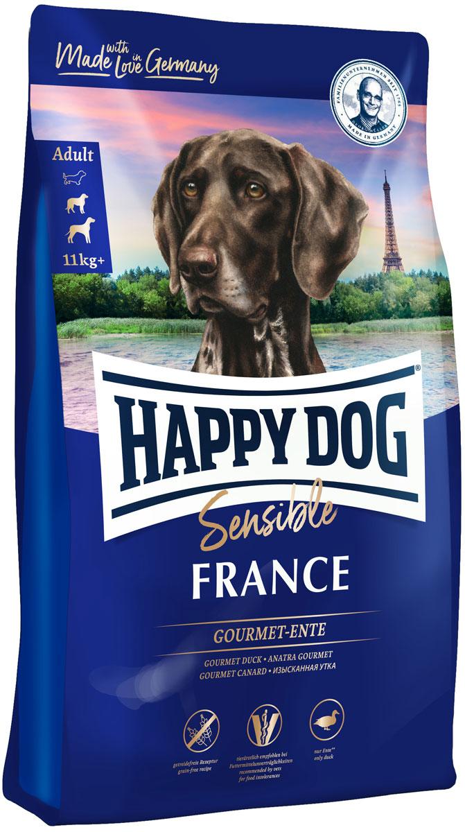 Happy Dog Supreme France Sensible Nutrition беззерновой для взрослых собак всех пород при аллергии с уткой и картофелем (1 кг) фото