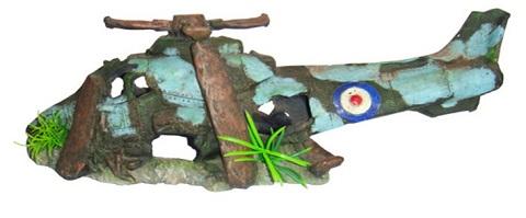 Декор грот для аквариума Вертолет, 41,5 х 14 х 15,5 см, Barbus, Decor 047 (1 шт)