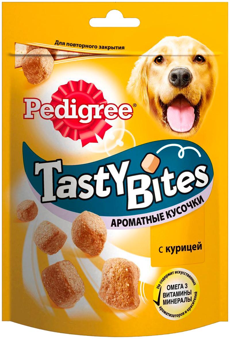 Лакомство Pedigree Tasty Bites для собак ароматные кусочки с курицей (130 гр)
