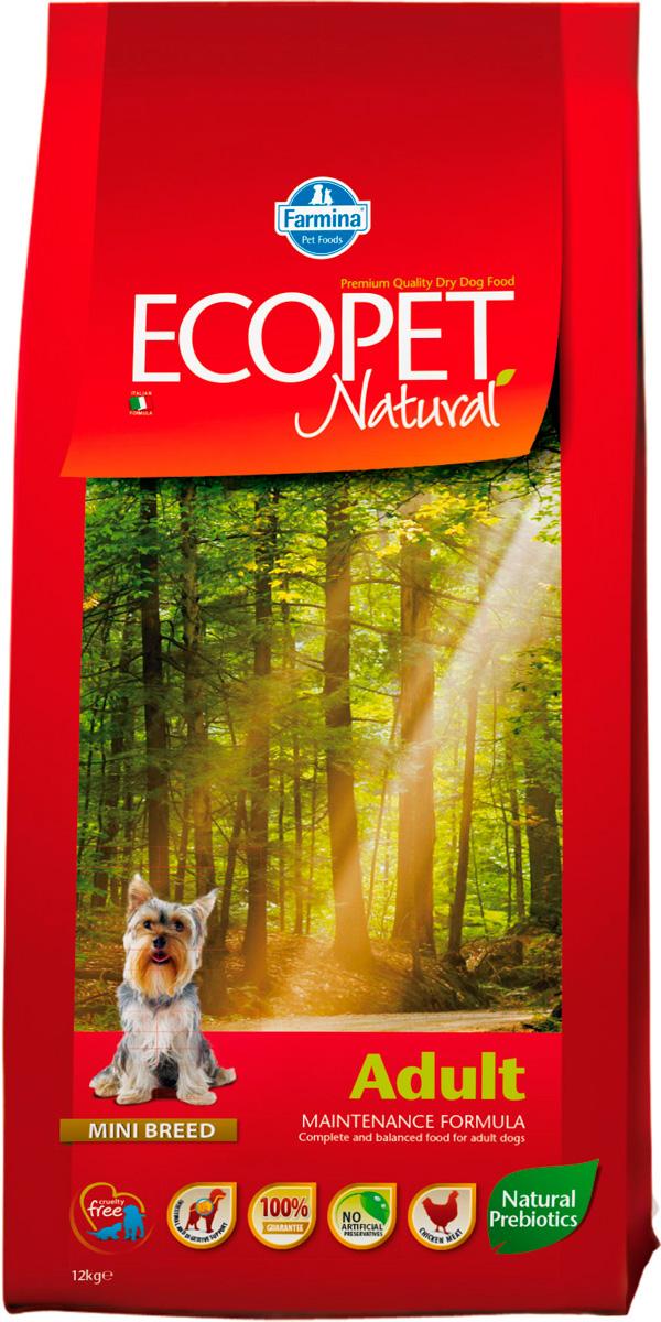 Ecopet Natural Adult Mini для взрослых собак маленьких пород с курицей (12 кг)