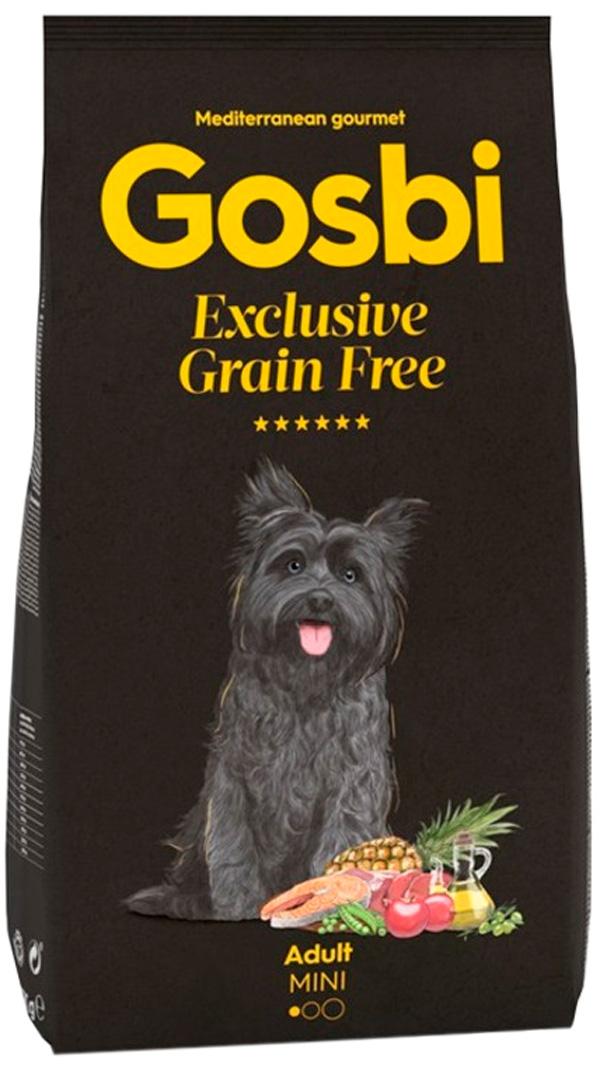 Gosbi Exclusive Grain Free Adult Mini беззерновой для взрослых собак маленьких пород с лососем и ягненком (2 кг)
