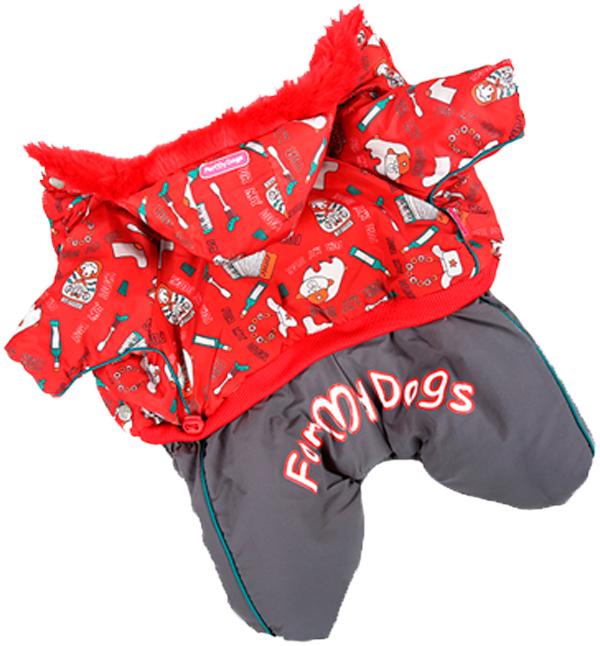 For My Dogs комбинезон для собак красный для мальчиков Fw237-2014 Am (10)
