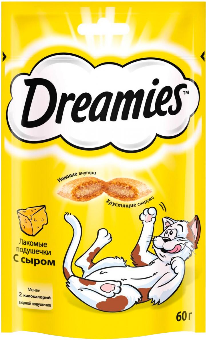 Лакомство Dreamies для кошек подушечки с сыром (60 гр)
