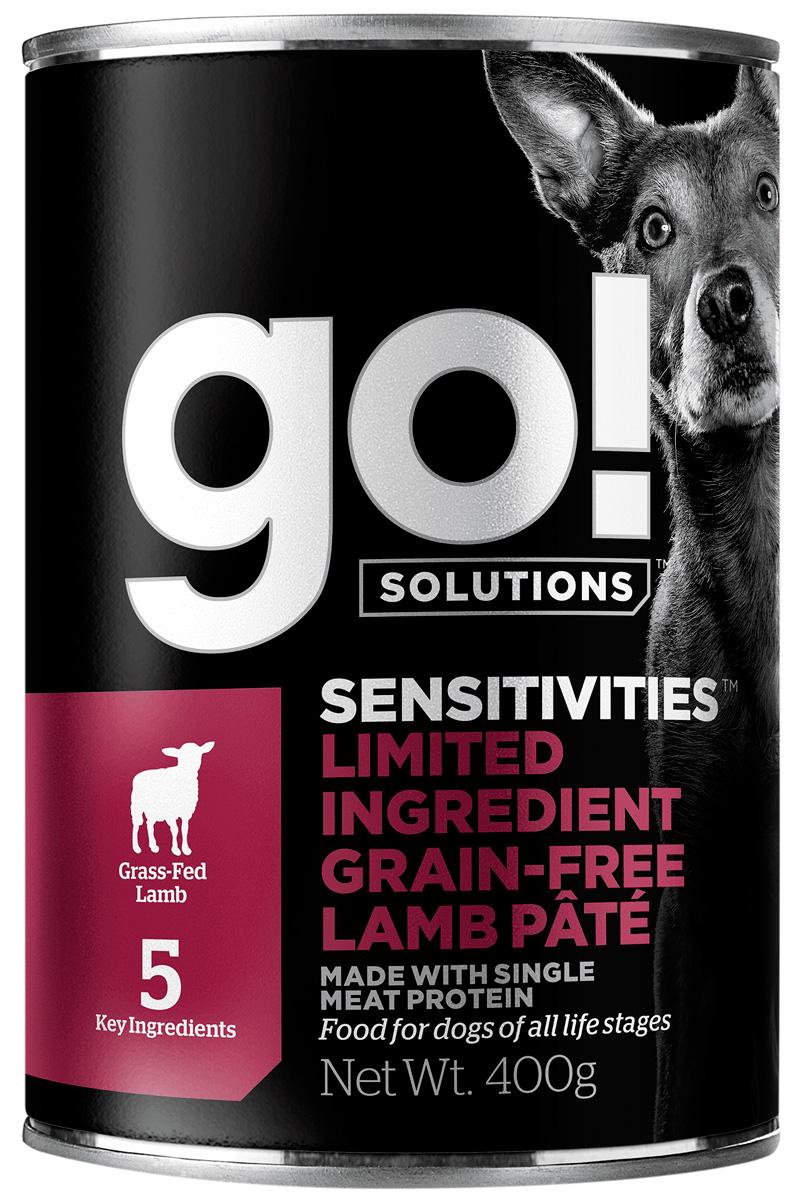 Go! Solutions Sensitivities монобелковые беззерновые для собак и щенков с чувствительным пищеварением с ягненком 400 гр (400 гр)