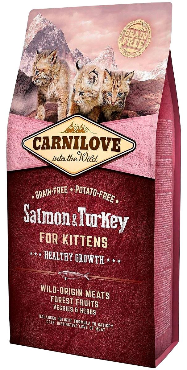 Brit Carnilove Cat Salmon & Turkey For Kittens беззерновой для котят с лососем и индейкой (2 + 2 кг)