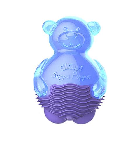 Игрушка для собак Мишка с пищалкой синий 9 см GiGwi (1 шт)